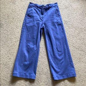 Everlane Wide Leg Crop, Mid Blue size 8